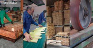 le quattro fasi della lavorazione del legno