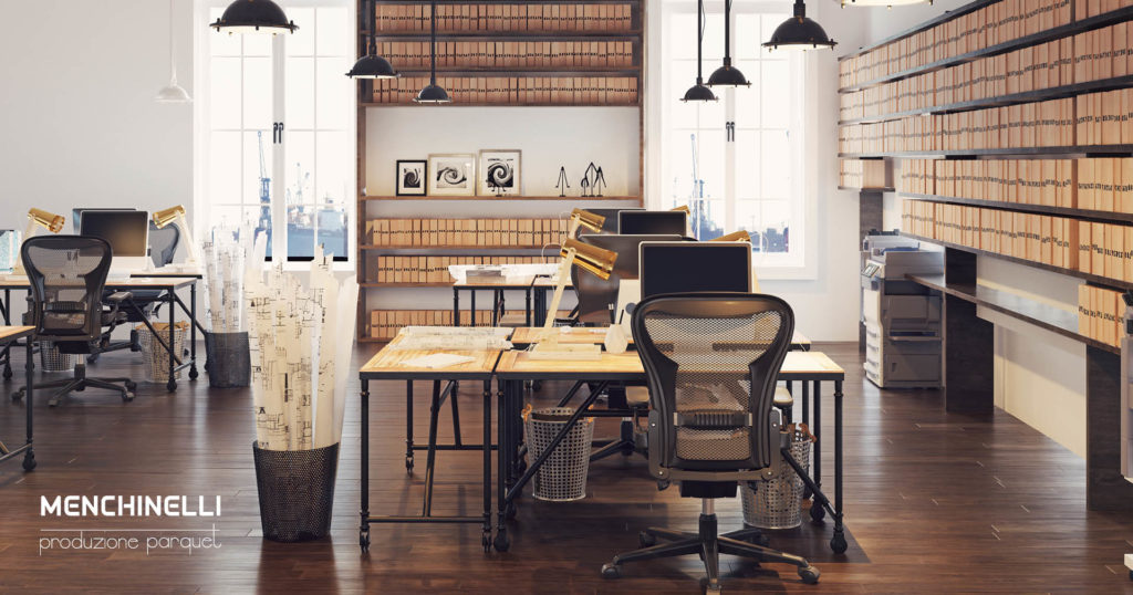 parquet in un ufficio di architettura